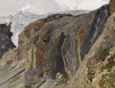 Eugen Felix Prosper Bracht - Franzenshöhe bei Trafoi - Öl auf Leinwand - 1886