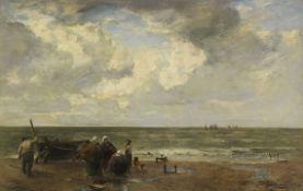 Joseph Wopfner - An der Nordseeküste - Öl auf Holz - 1906