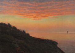 Albert Edvard Wang - Abendstimmung an der dänischen Küste - Öl auf Leinwand - 1920