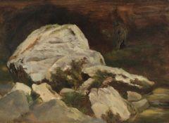 Christian Friedrich Gille - Felsen im Rabenauer Grund - Öl - 1860