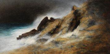 Karl Wilhelm Diefenbach - Stürmische Meeresbucht - Öl auf Leinwand - 1912