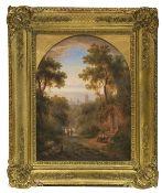 Deutschland - Blick auf Frankfurt - Öl auf Holz - 1860