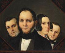 Detlev (Ditlev) Conrad Blunck - Porträt der Geschwister Karchow - Öl auf Leinwand - 1846