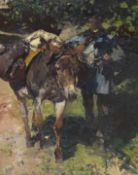 Heinrich von Zügel - Esel mit Treiber - Öl auf Leinwand - 1925