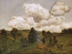 Hans Thoma - Herbstfeuer - Öl - 1880