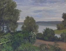 Walter Leistikow - Garten in Grünheide - Öl auf Leinwand - 1905