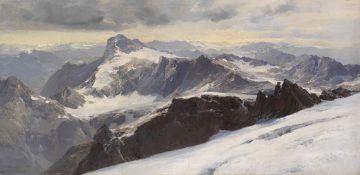 Edward Theodore Compton - Die Alpen von Graubünden vom Tödi aus - Öl auf Leinwand - 1900