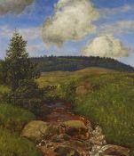 Hans Thoma - Schwarzwaldbach - Öl - 1900