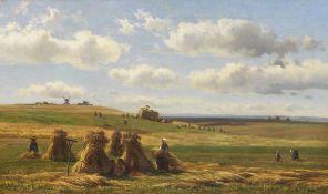 Adolf Heinrich Lier - Kornernte - Öl auf Leinwand - 1863