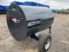 SITE TOW 1000 LITRE BUNDED FUEL BOWSER WITH HAND PUMP