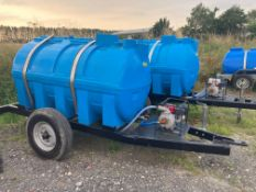 2000 ltr Dust Suppression Bowser with brand new Honda Pump