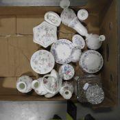 Wedgwood Bone China Rosehip pattern trinket box an