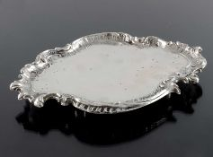 A German silver card tray, Franz Mosgau, Berlin circa 1890