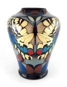 Vicky Lovatt for Moorcroft, a large Swallowtail vase