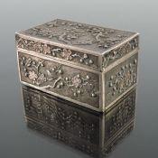 A Chinese silver box, Luen Wo, Shanghai circa 1900