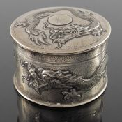 A Chinese export silver box and cover, Tuck Chang, Shanghai circa 1900