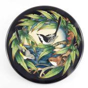 Philip Gibson for Moorcroft, English garden birds, circular charger,