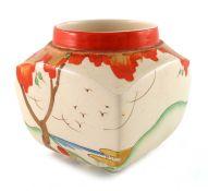 Clarice Cliff for Wilkinson, a Taormina preserve pot