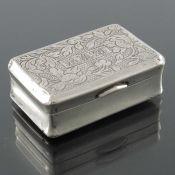 A Chinese export silver snuff box, MK, Canton circa 1870
