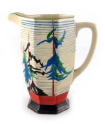 Clarice Cliff for Wilkinson, a Pine Grove Athens jug