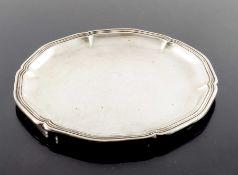A German silver card tray, Gebruder Deyhle, circa 1910