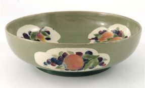 William Moorcroft, a Pomegranate and Blackberry Panel bowl