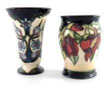 Sian Leeper for Moorcroft, a Kapok vase, circa 2000