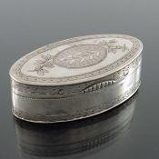 A Napoleonic French Provincial silver snuff box, AM, Strasbourg circa 1810