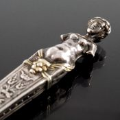 A Renaissance silver handled figural fork, late 16th or early 17th century
