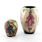 Emma Bossons for Moorcroft, Foxglove vase, 1994
