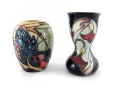 Emily Bossons for Moorcroft, Dewdrop vase, circa 2006