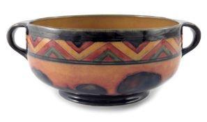 William Moorcroft, a red Dawn Landscape bowl