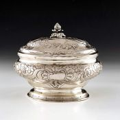 An 18th century Baltic silver sugar box, WM, probably Tallinn circa 1750