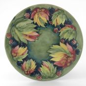 William Moorcroft, a Leaf and Blackberry plate
