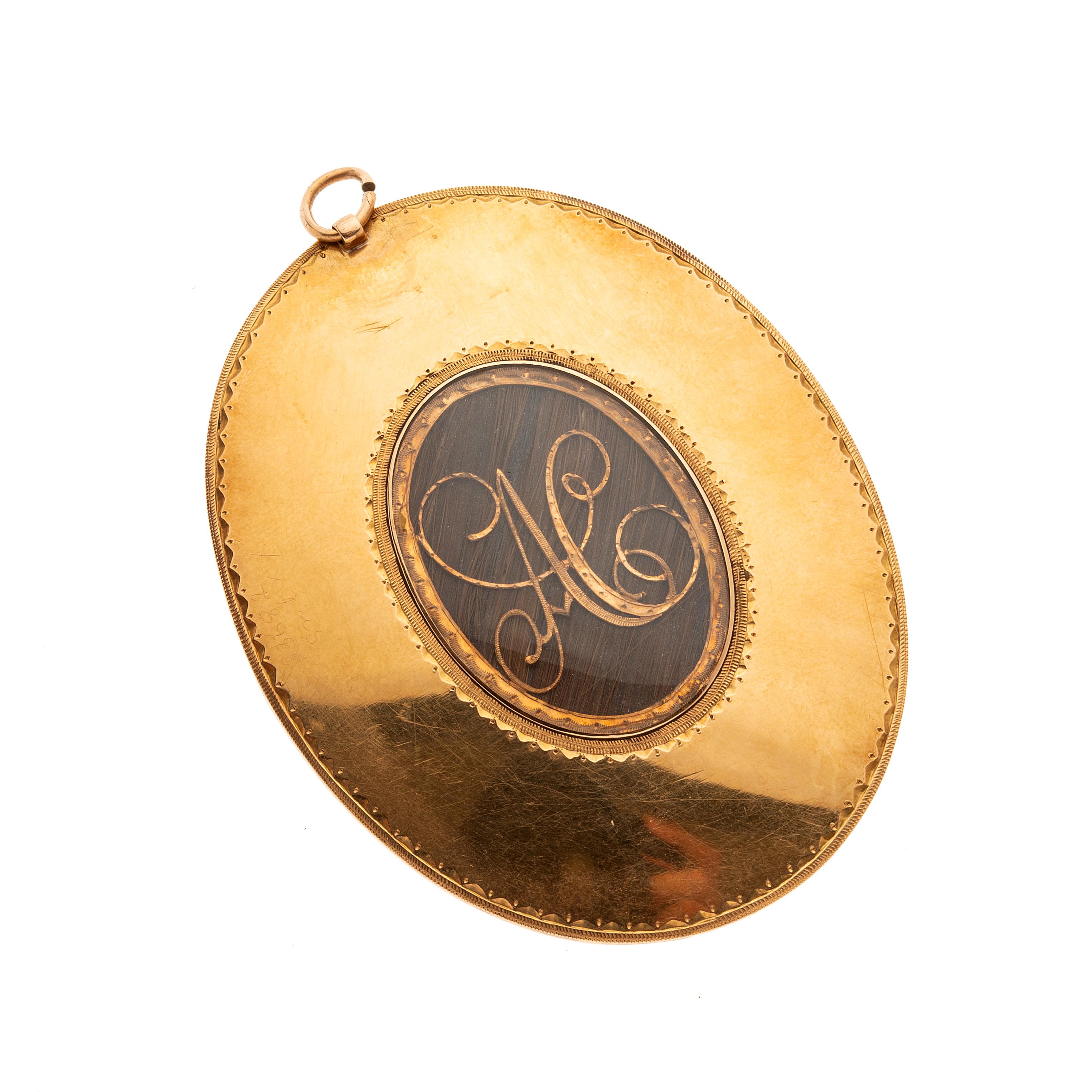 John Smart (1742/ 43-1811), a gold portrait miniature pendant, dated 1788 - Image 2 of 2