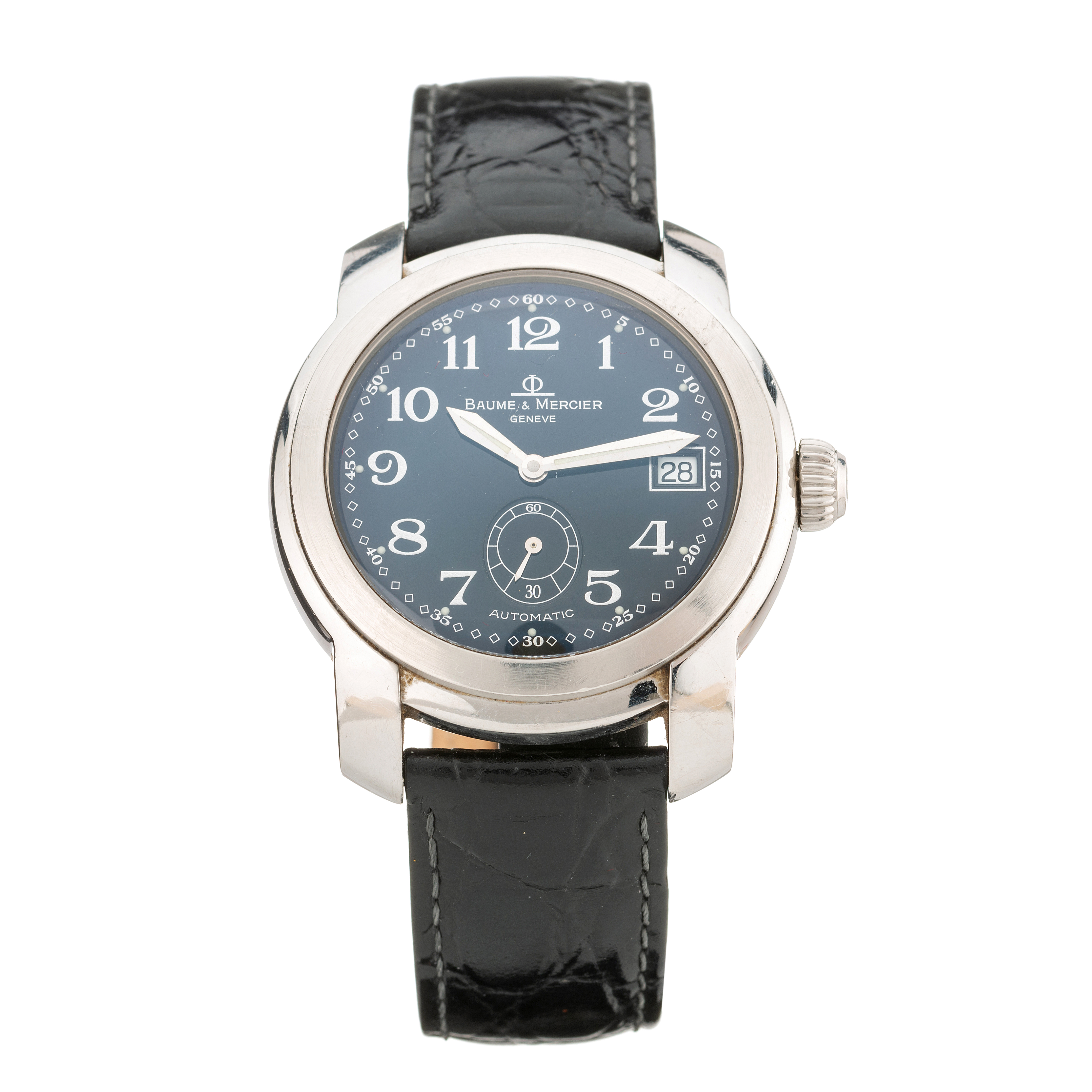Baume & Mercier, a stainless steel Capeland automatic wrist watch