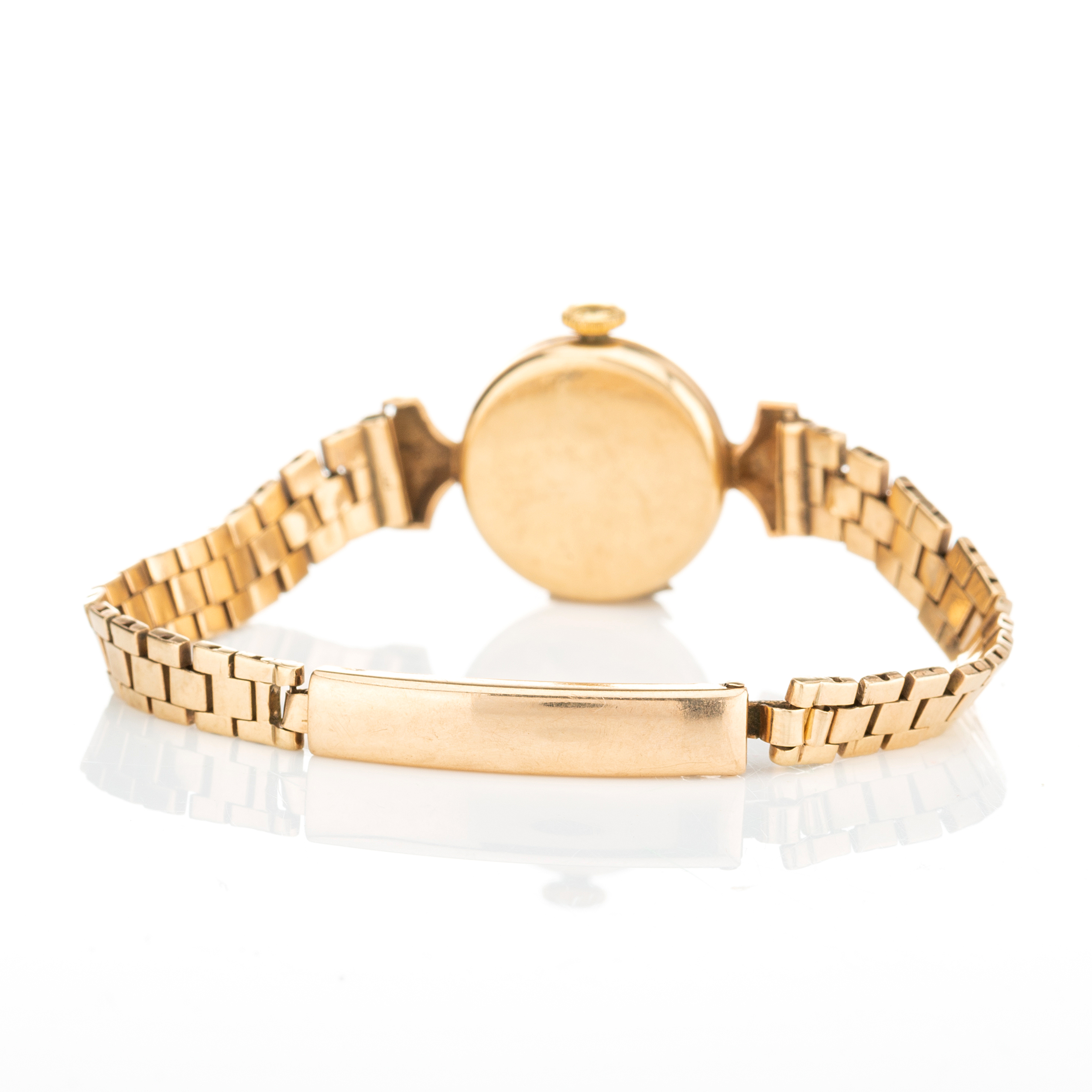 Longines, a mid 20th century 9ct gold bracelet watch - Image 3 of 3