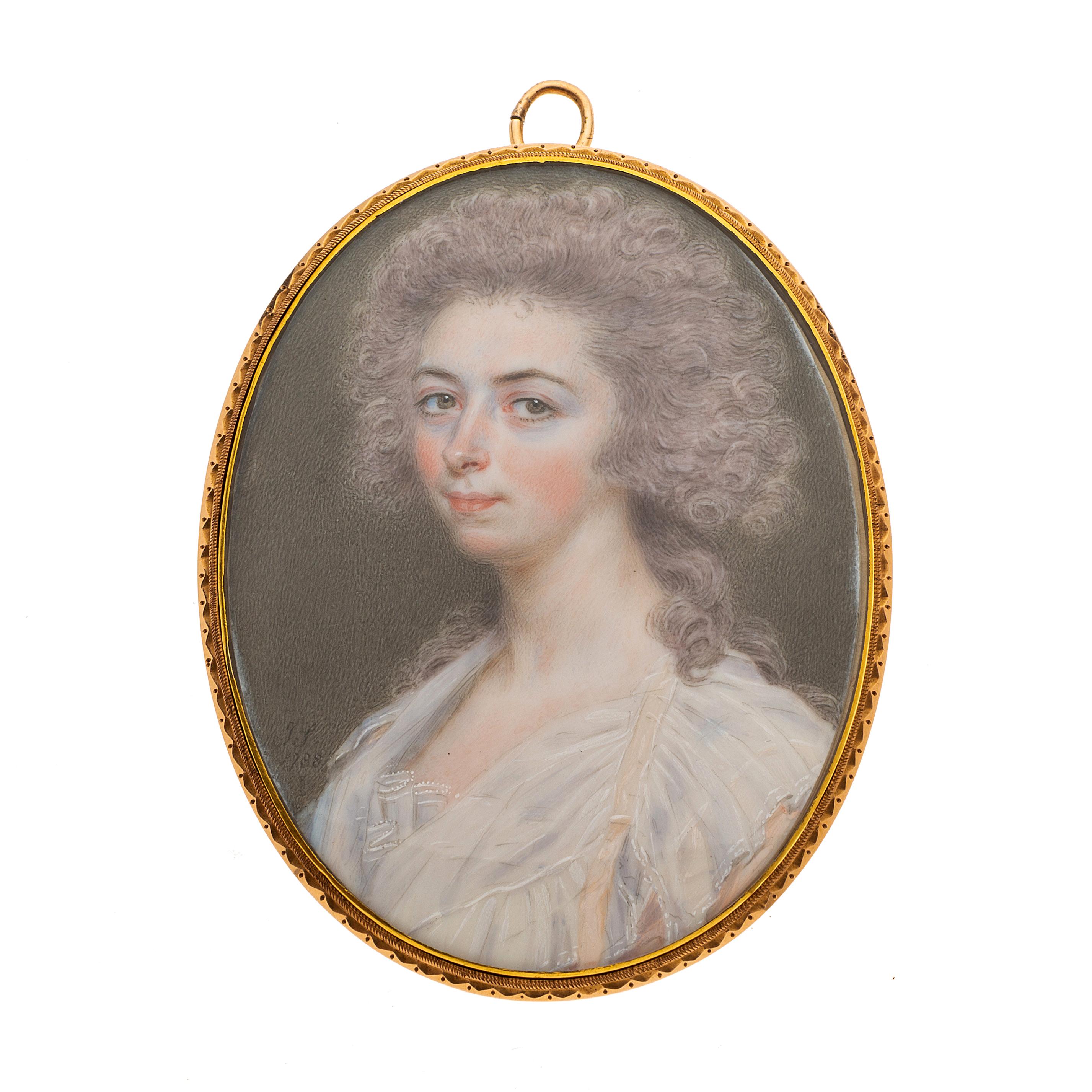John Smart (1742/ 43-1811), a gold portrait miniature pendant, dated 1788