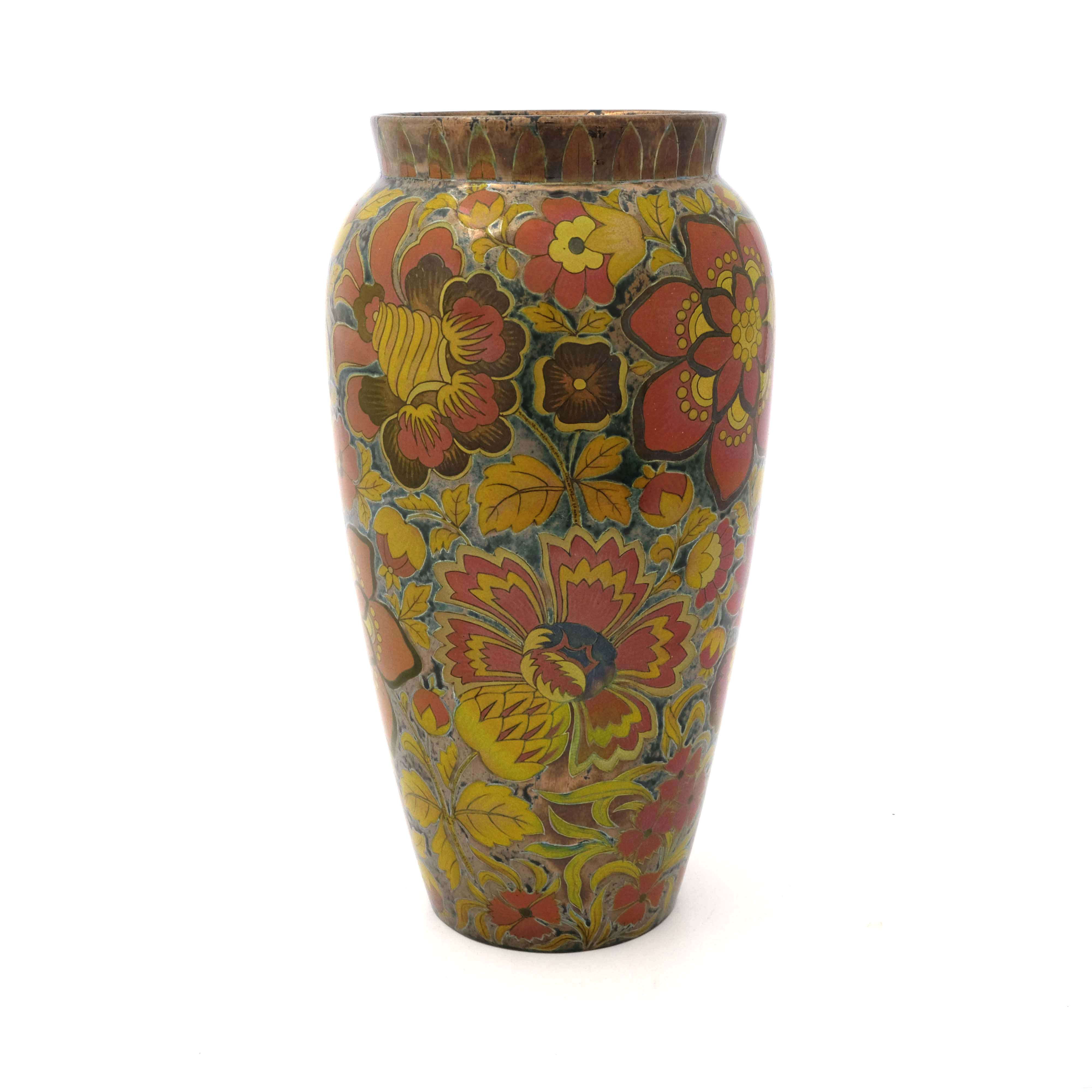 Zsolnay, Pecs, a lustre vase - Image 2 of 6