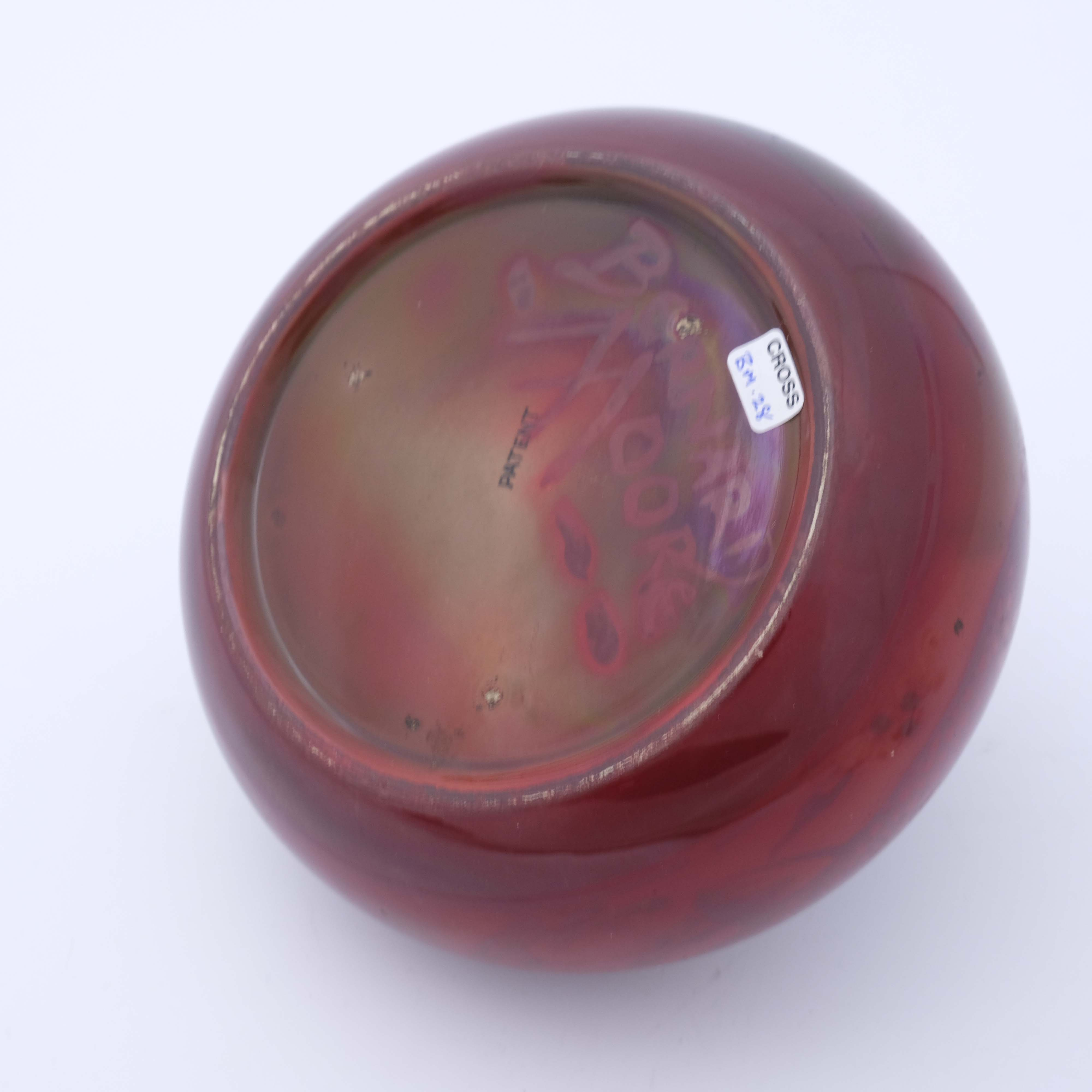 Bernard Moore, a flambe aquatic tobacco jar - Image 5 of 5