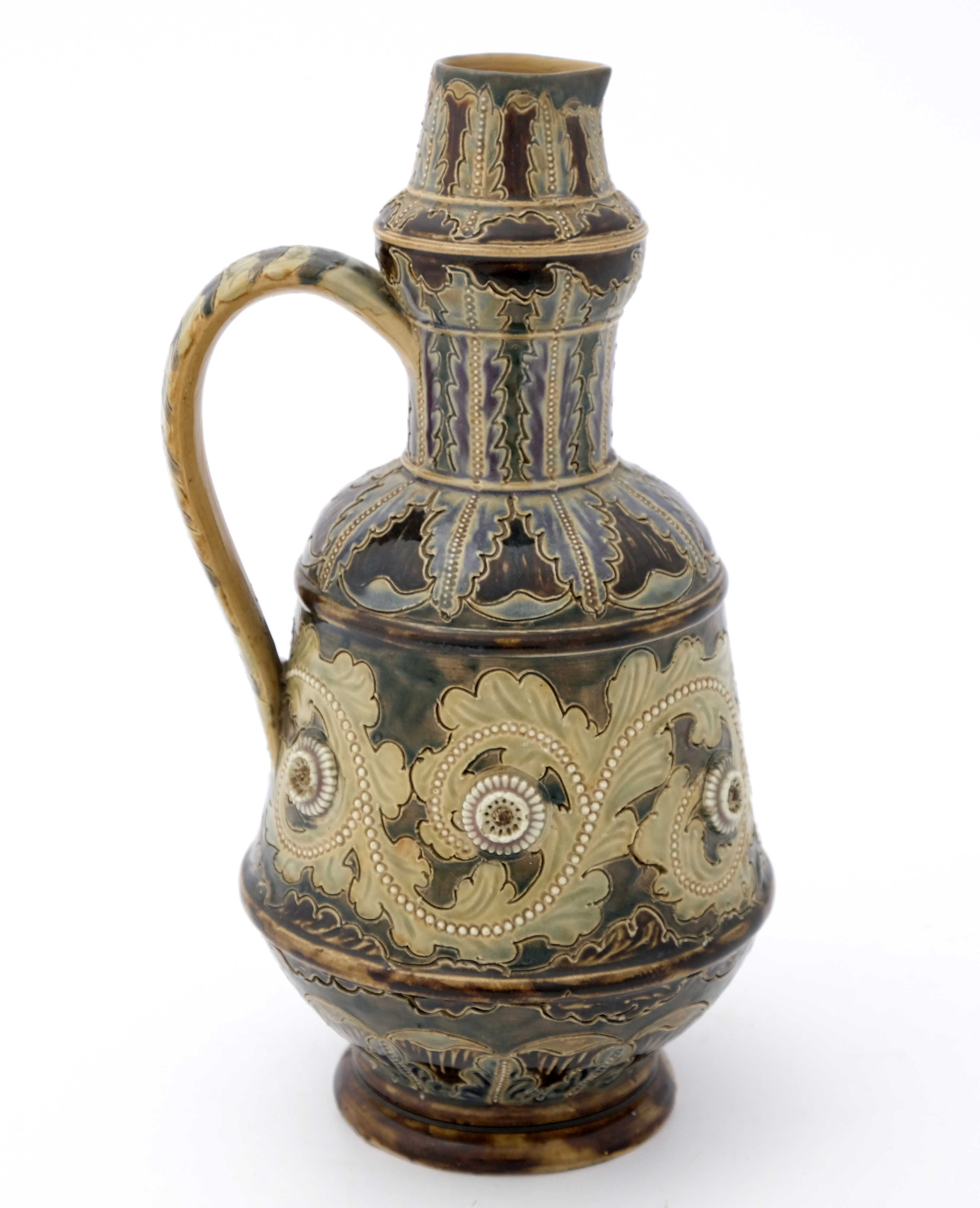 George Tinworth for Doulton Lambeth, a stoneware j