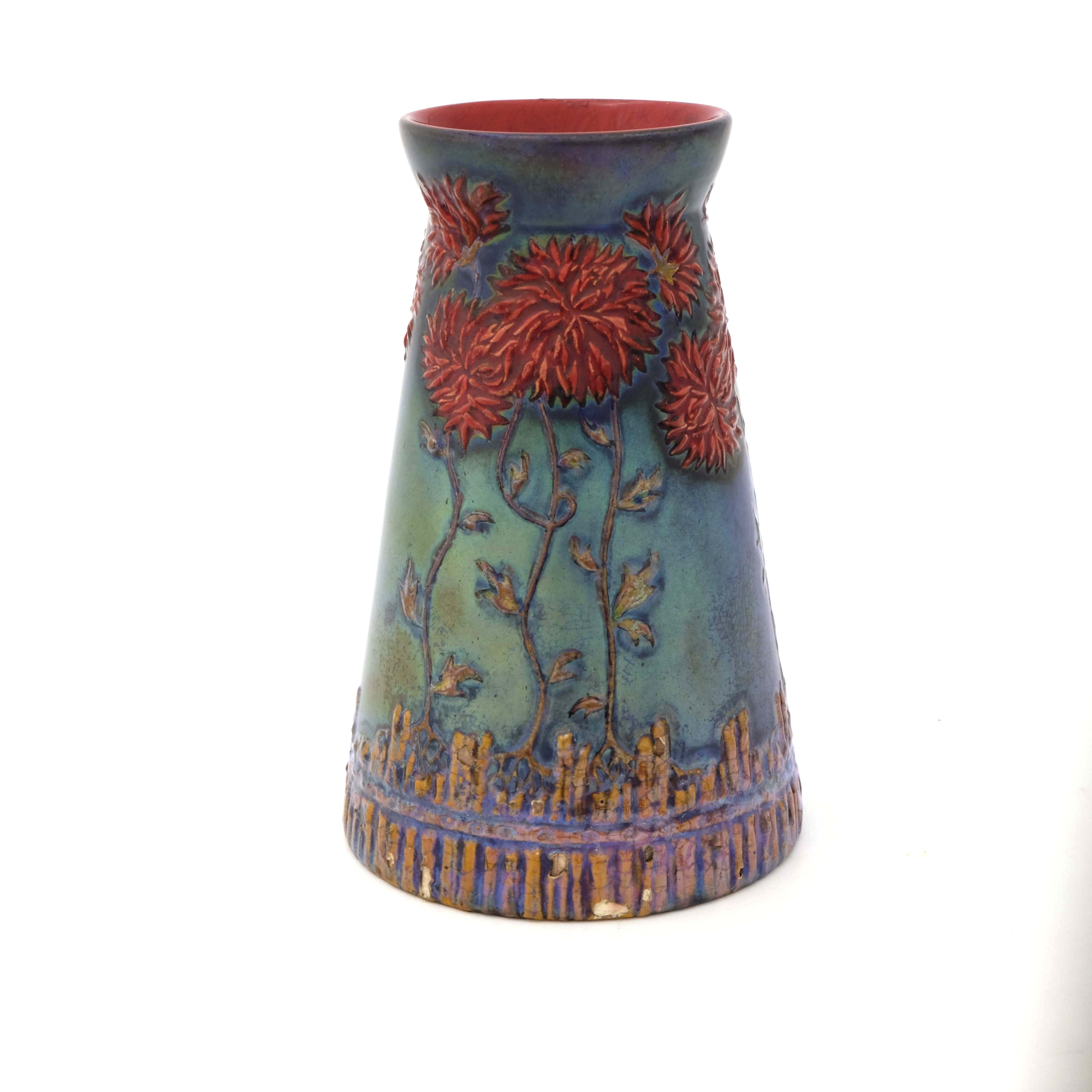 Zsolnay, Pecs, a lustre vase - Image 4 of 6