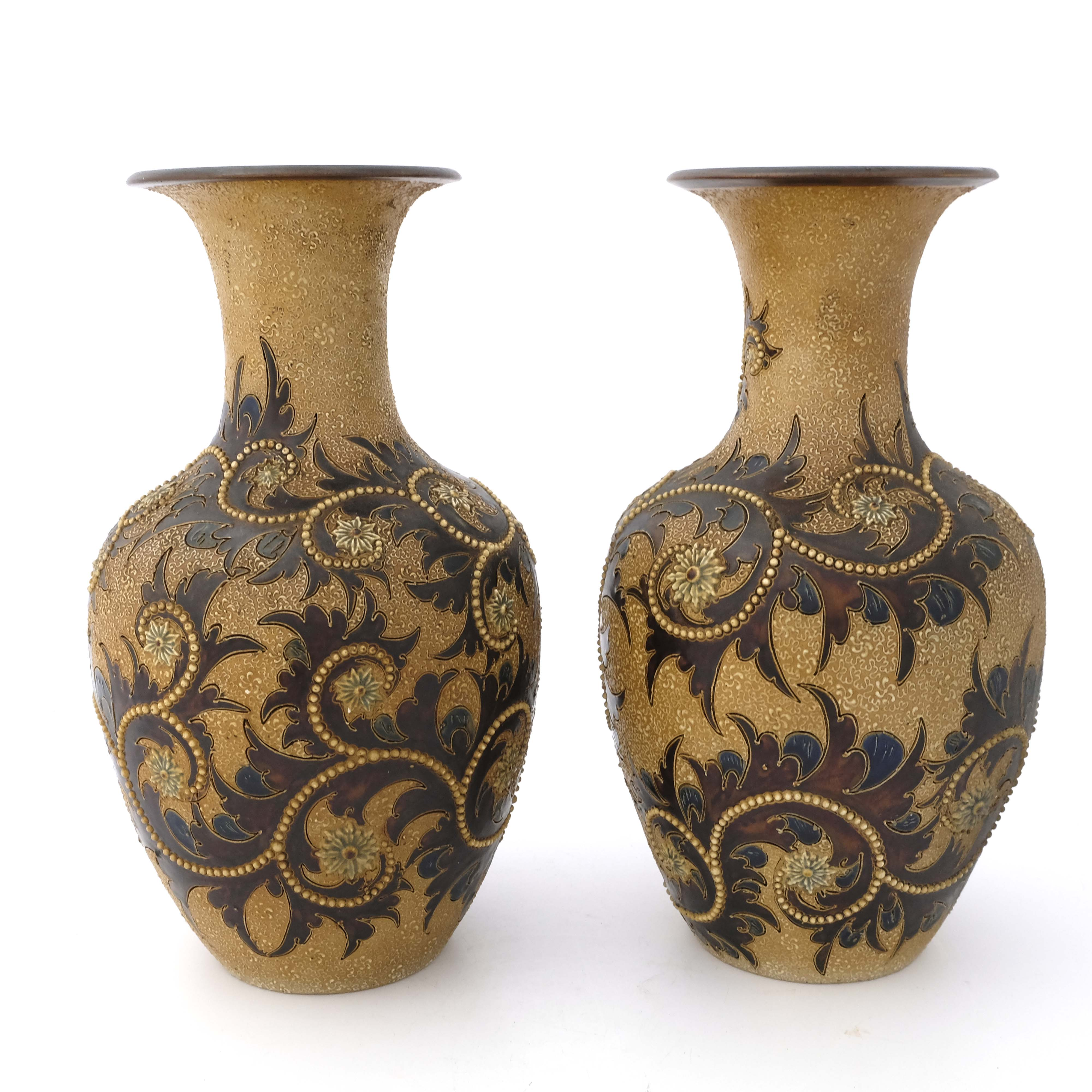 George Tinworth for Doulton Lambeth, a pair of sto - Image 2 of 7