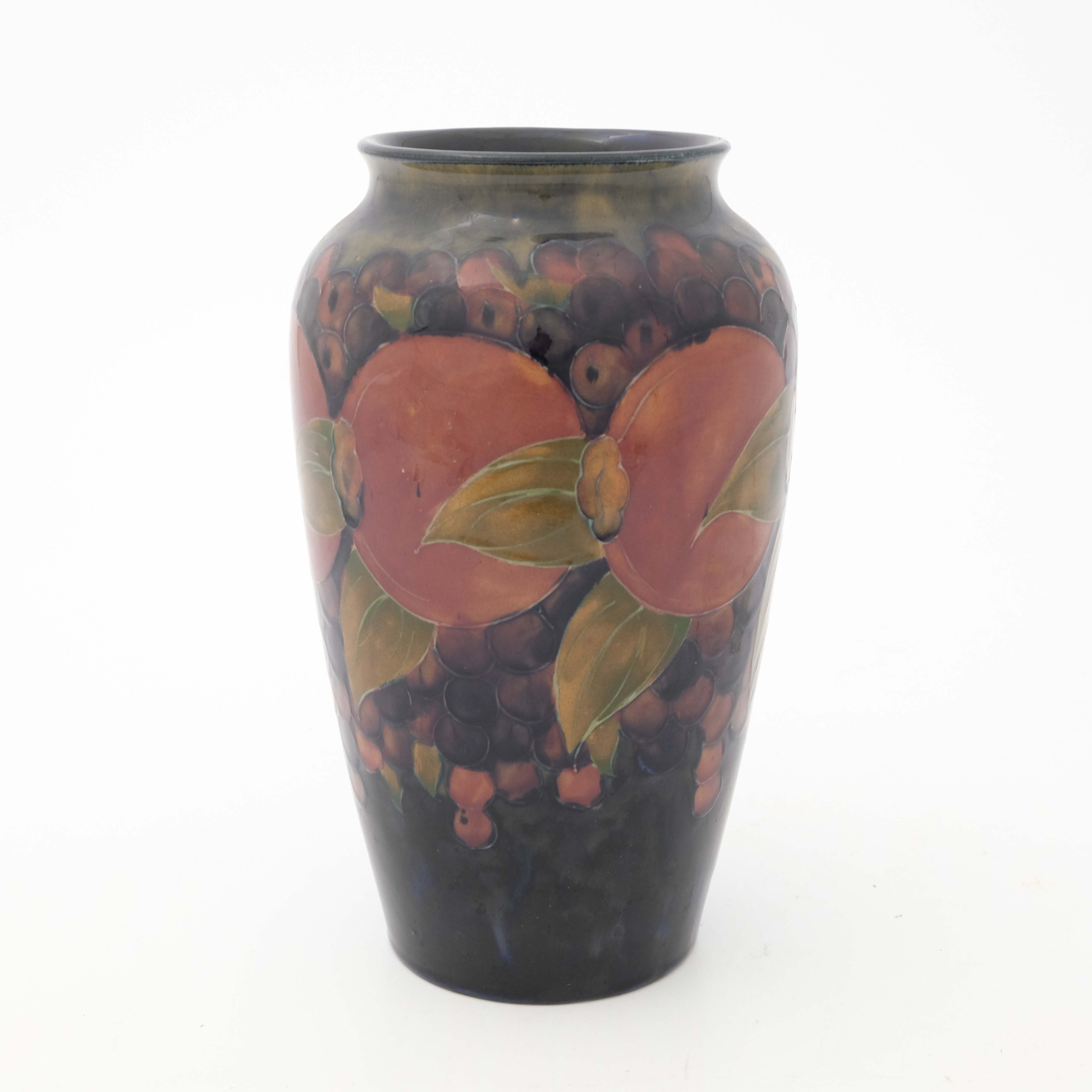 William Moorcroft, a Pomegranate on ochre and blue - Image 2 of 5