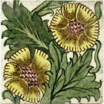 William De Morgan, a K L Rose sepia tile
