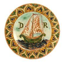 Ruth Bare for Della Robbia, an art pottery plate