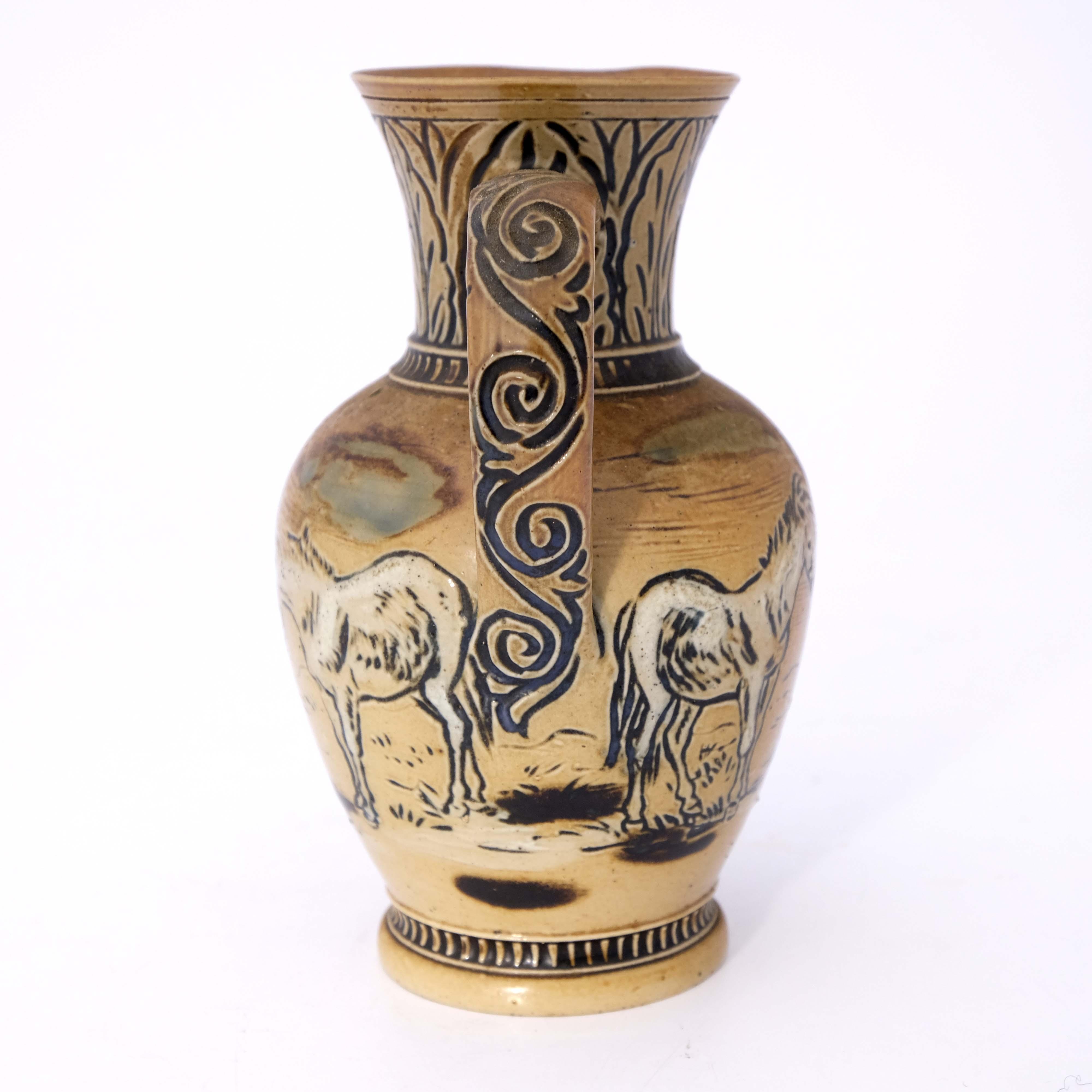 Hannah Barlow for Doulton Lambeth, a stoneware jug - Image 4 of 6