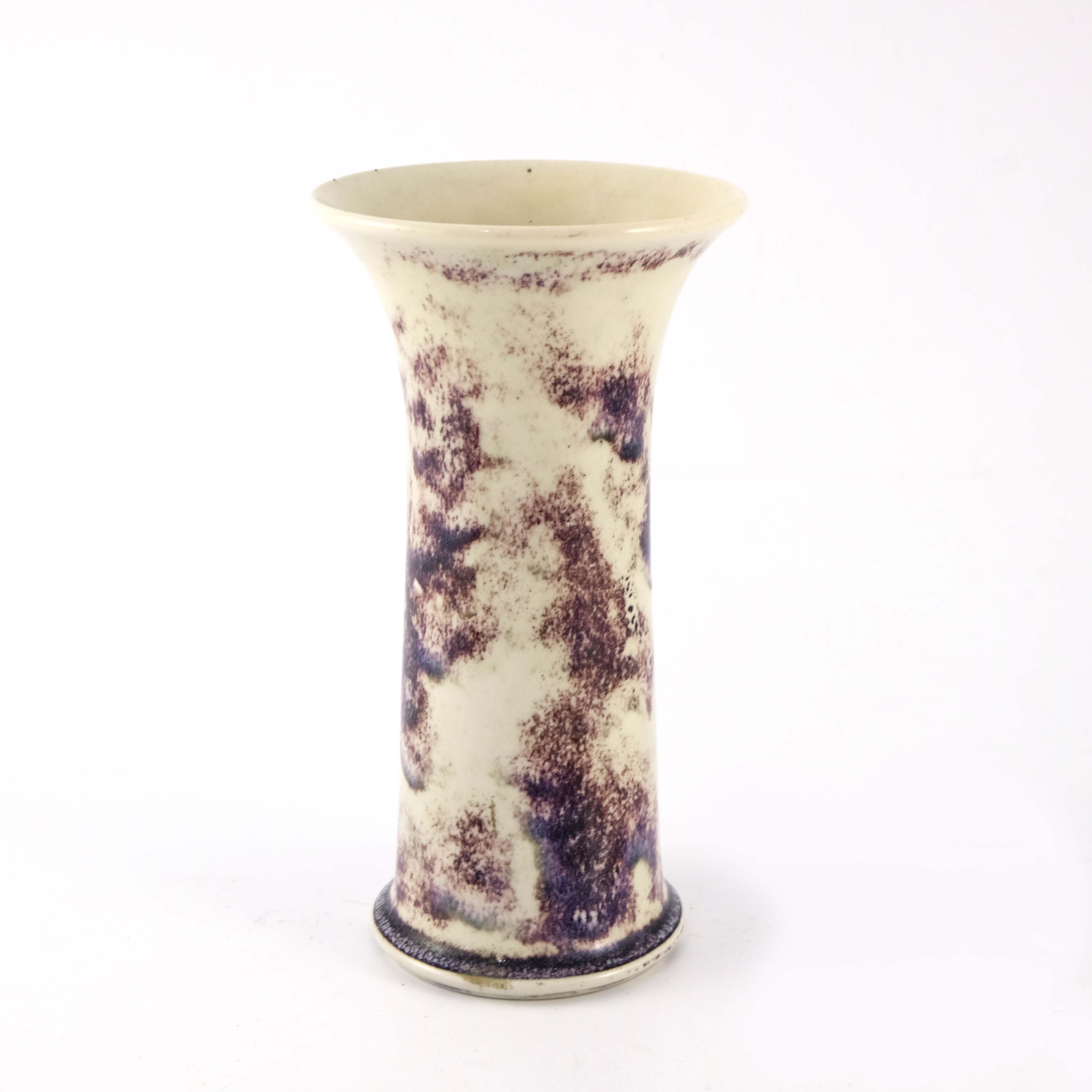 Ruskin Pottery, a High Fired Lily vase