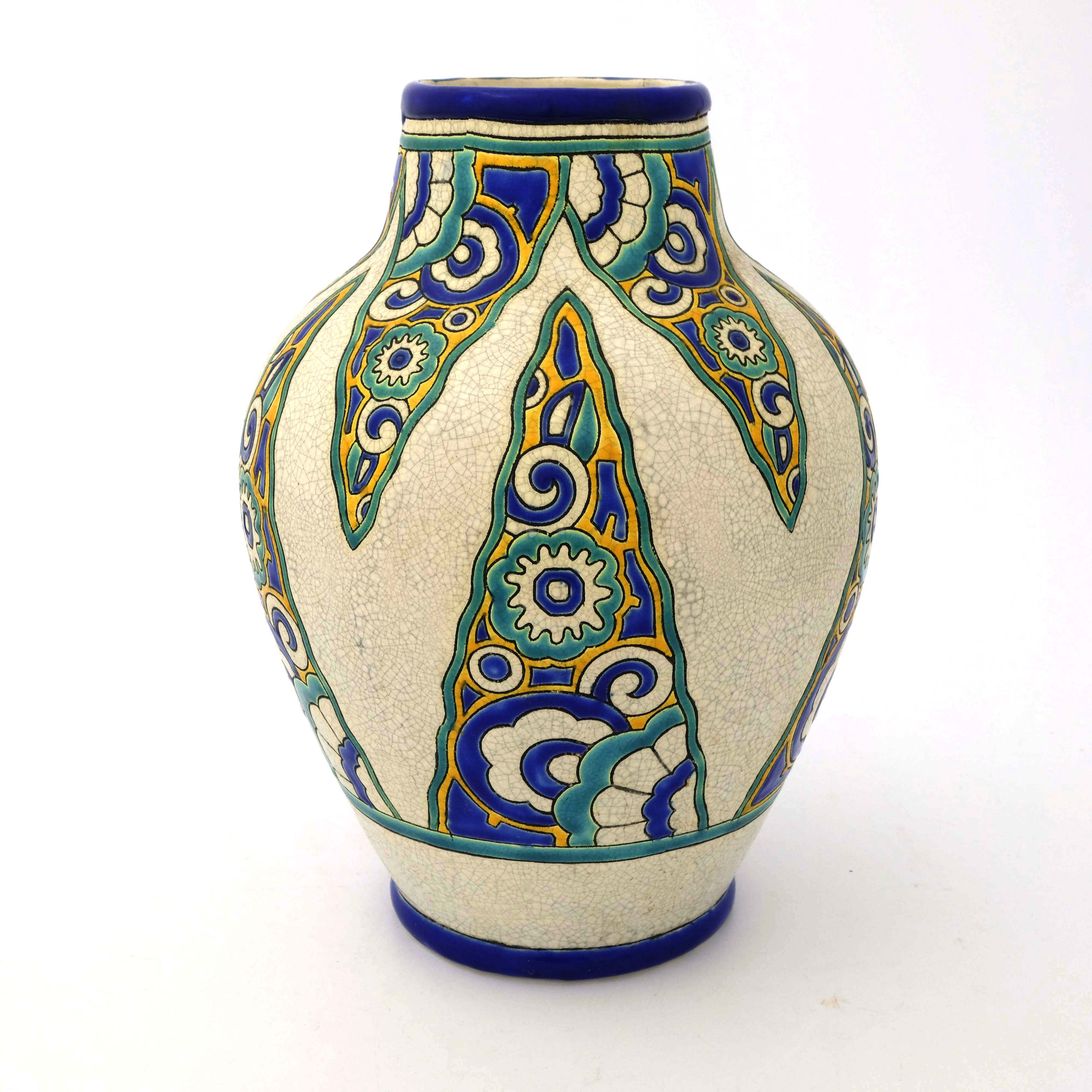 Charles Catteau for Boch Freres, an Art Deco vase - Image 3 of 5