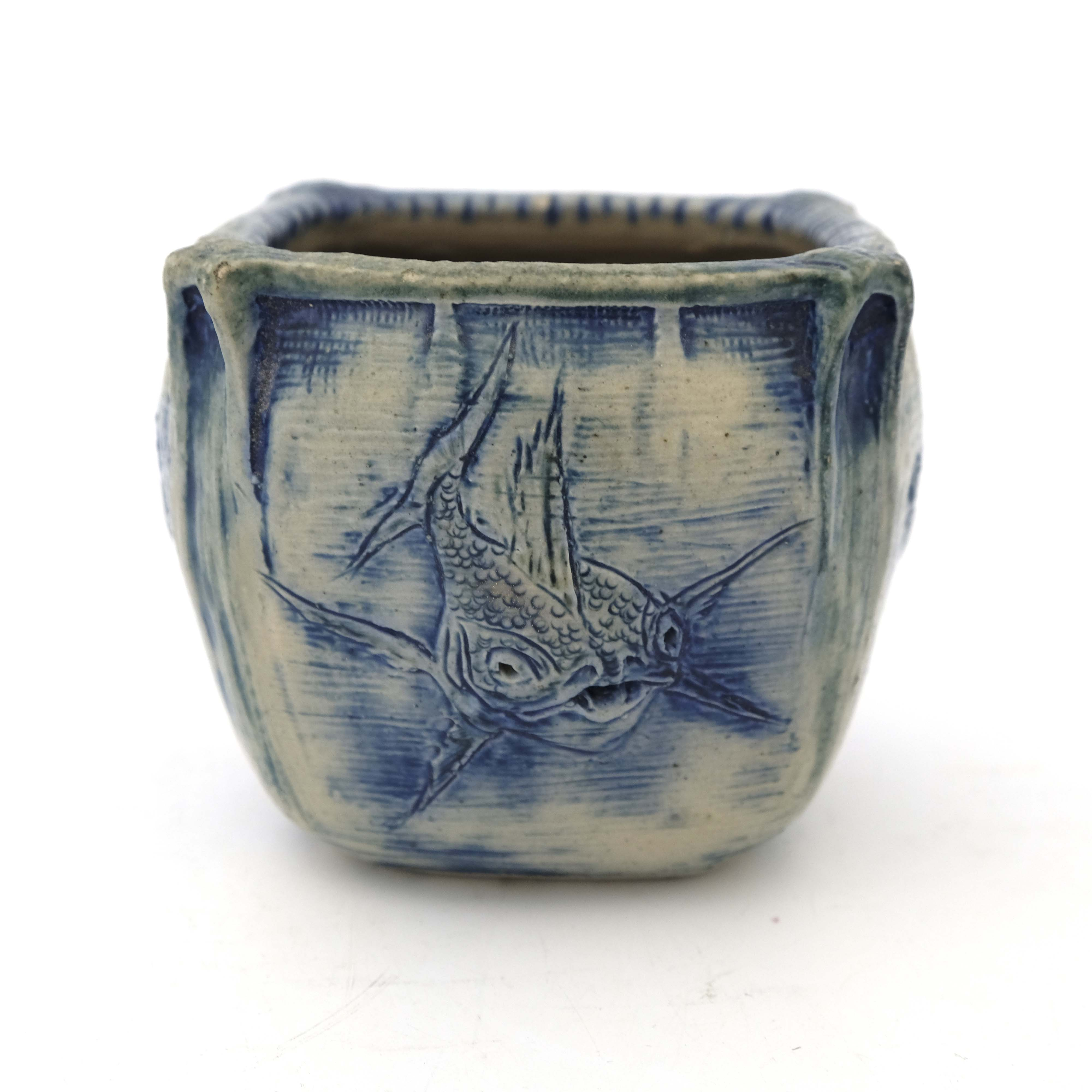Edwin Martin for Martin Brothers, a stoneware aqua